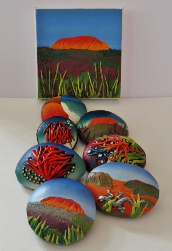 Painted Pendant - Pam Annesley_1