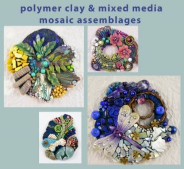 Polymer & Mixed Media Mosaic Assemblages - Christi Friesen_1